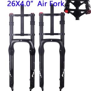 Image 1 - PASAK Shoulder bike fork fat bike 26*4.0 air fork Snow Mountain Bicycle Fork Magnesium aluminum alloy downhill DH fork