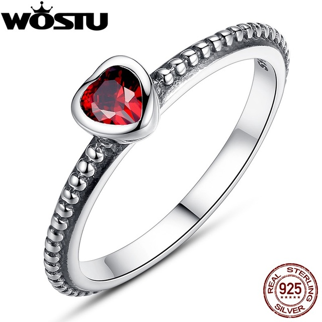 Hot Sale Authentic 100% 925 Sterling Silver Anniversary Wedding Heart CZ Rings For Women European Original Brand Jewelry XCH7105