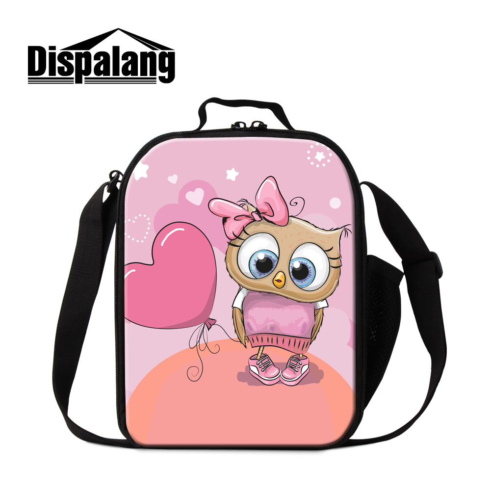 Coeur Dessin 3d 15 07 26 De Réduction Dispalang 3d Coeur De Bande Dessinée Impression Isolé Sac à Lunch Enfant Animal Hibou Thermo Pack Refroidisseur De