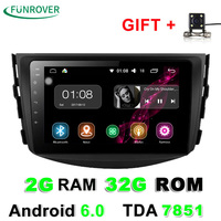 Funrover 2g + 32g Android 6.0 Araba Dvd Toyota Rav4 2007 Için 2008 2009 2010 2011 Radyo Stereo Gps Navigasyon Direksiyon Ile tekerlek