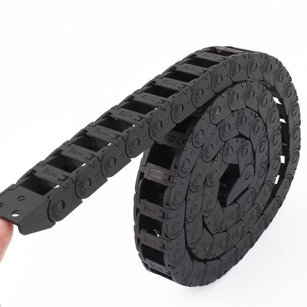 New Arrival 99cm/3.3Ft Nylon Transmission Drag Chain Free Movement Wear-resistant Cable Drag Chain For Electrical Machines Black rezzoug abderrezak non conventional electrical machines