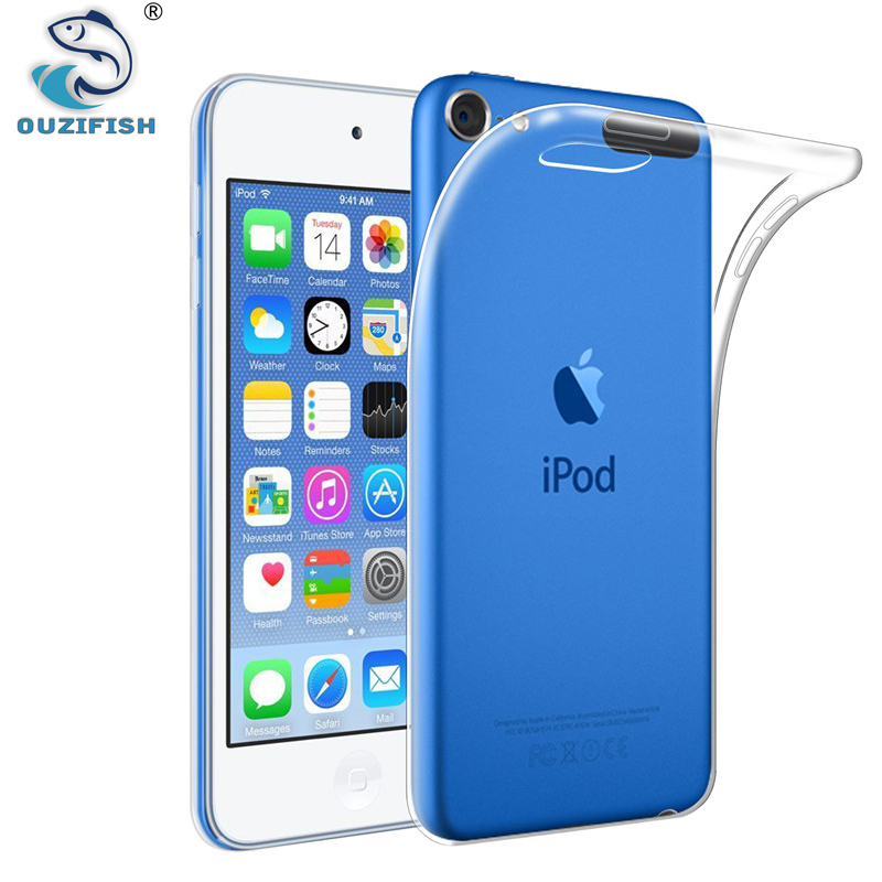 d2f39d54eeb87 OUZIFISH For Apple iPod Touch 5 6 Case Coque iPone 5C Case Silicon Hybrid  Transparent