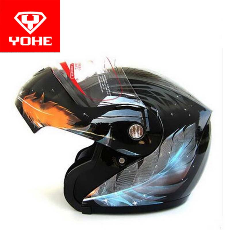 2017 New YOHE open face Motorcycle helmet YH936 knight Safety undrape face Motorbike helmets made of ABS and PC visor lens 2018 summer new double lenses yohe full face motorcycle helmet model yh 967 made of abs and pc lens visor have 8 kinds of colors