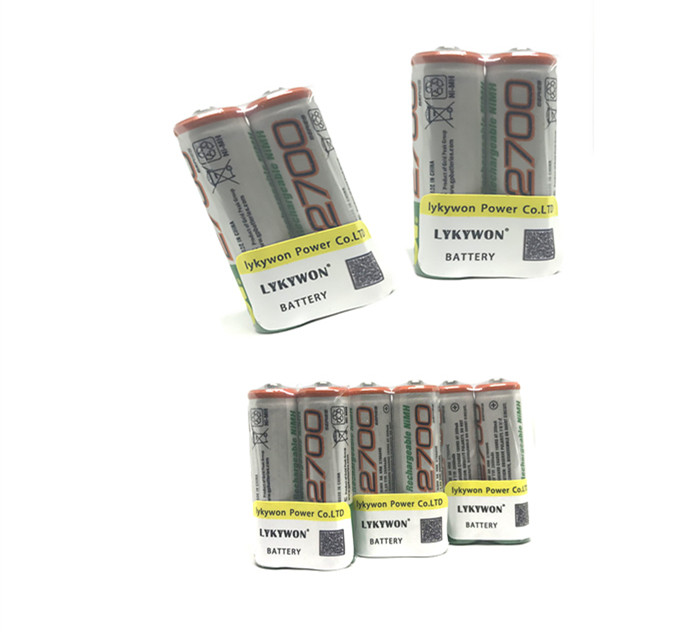 GP AAA Rechargeable Ni-MH Batteries 600 mAh Card of 4 2 FREE