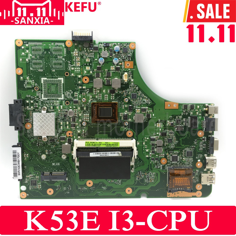 KEFU K53E Laptop motherboard for ASUS K53E K53SD K53S K53 Test original mainboard REV6.0 I3 CPU цены