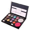 3pcs/lot Makeup Palette 12Colors Eyeshadow+2 Colors Blush With Mini Brush Make Up Set For Sale