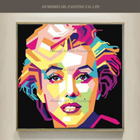 New Style Hand Painted Famous Marylin Monroe Pop Art Canvas Portrait Oil Painting Abstract Actor Acrylic