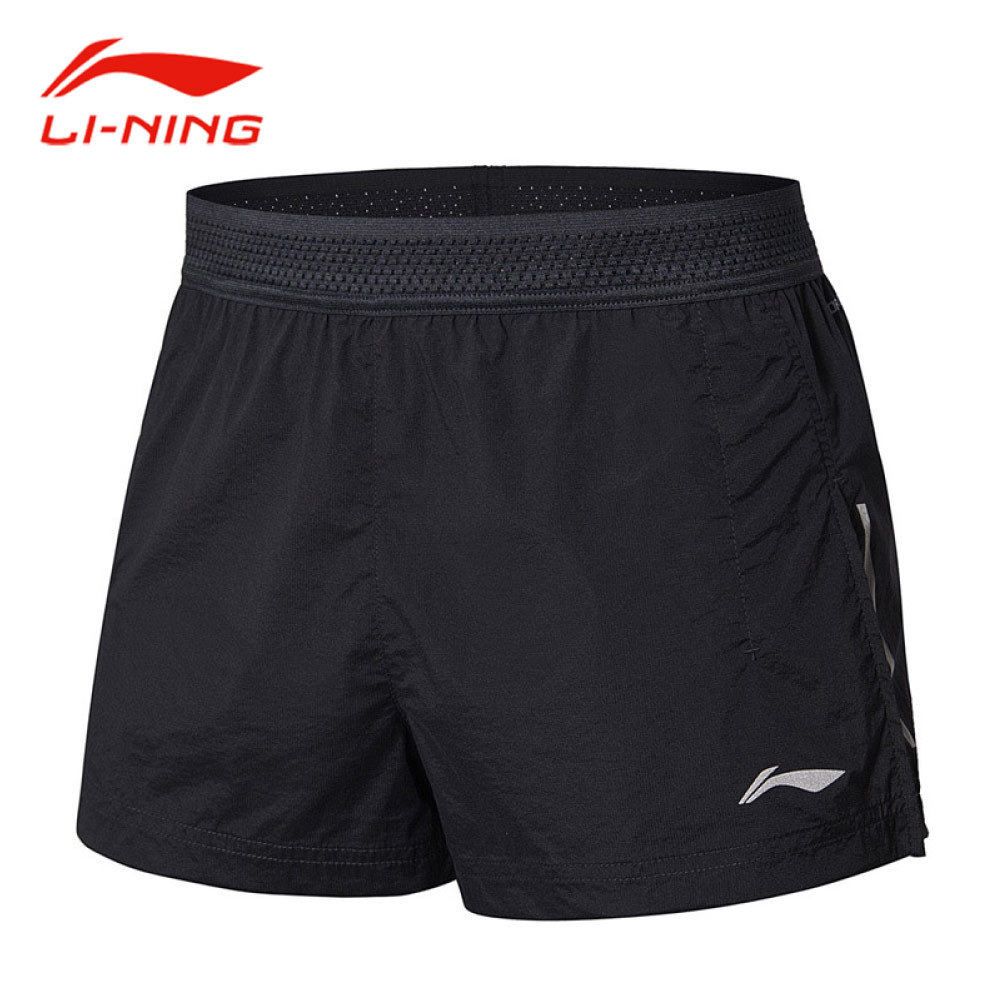Li-Ning Men Anti Splash Water Running Shorts Quick Dry Breathable Comfort Short Trousers LiNing Fitness Sports Shorts AKSN137 italian style fashion men s jeans shorts high quality vintage retro designer classical short ripped jeans brand denim shorts men