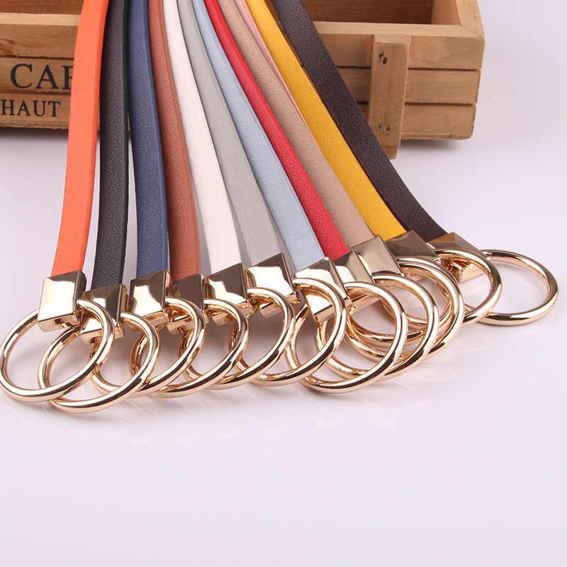 뜨거운 판매 드레스 얇은 여성 허리 벨트 매듭 고품질 라운드 PU 가죽 조절 스웨터 스커트 스트랩