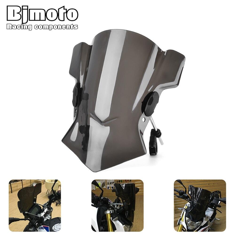 Bjmoto Moto Steer biker Windshield Windscreen bracket For BMW R Nine T RNineT R1200RS R1200RT S1000R