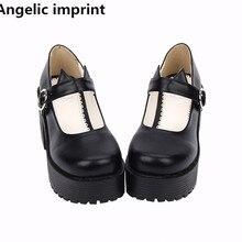 0e97ee697c4 Angelic imprint woman mori girl lolita cosplay punk shoes lady high heels  pumps platform shoes women