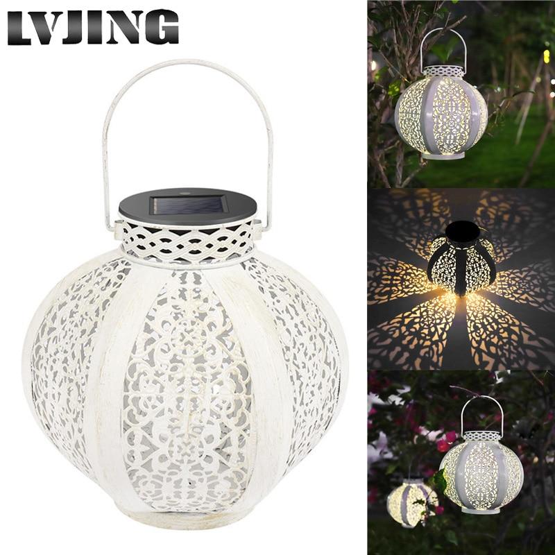 Solar Lamp Waterproof LED Bulb Wireless Hanging Decor Outdoor Garden Night Light