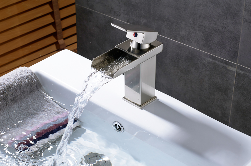 HTB1VrqXXBi5K1Rjt hNq6zUDVXaq Wholesale And Retail Deck Mount Waterfall Bathroom Faucet Vanity Vessel Sinks Mixer Tap Cold And Hot Water Tap