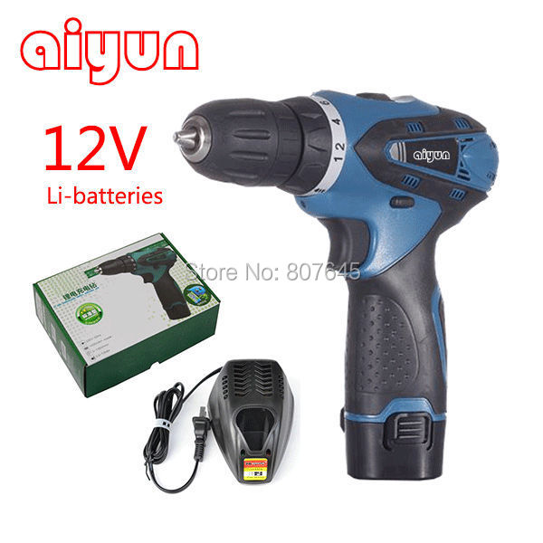 Two-speed 12V lithium electric screwdriver rechargeable hand drill cordless screwdriver Hot Drop Shipping/Free Shipping цены