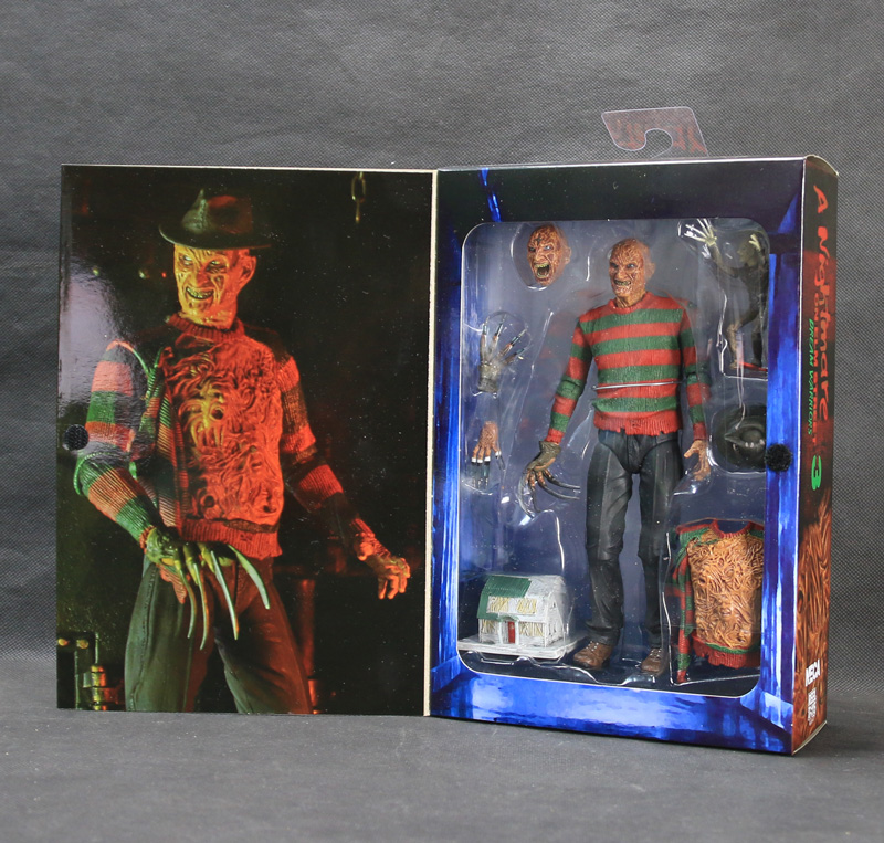 Hot Sale NECA Freddy Krueger Nightmare on Elm Stree Part 3 Ultimate Dream Warriors 18CM Action Figure nars контурный карандаш для губ precision lip liner le lavandou