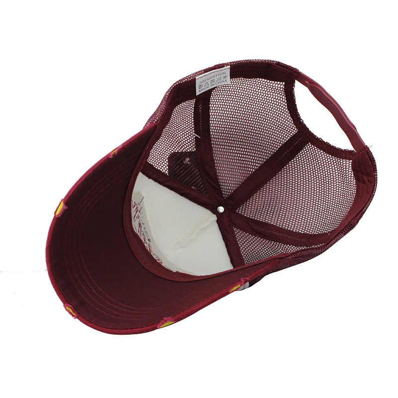 [[FLB] Set Mũ Bóng Chày Lưới Thêu Nón Nón Lưỡi Trai Nam Nữ Gorras Hombre nón Áo Hip Hop Mũ Lưỡi Trai bố Casquette F207