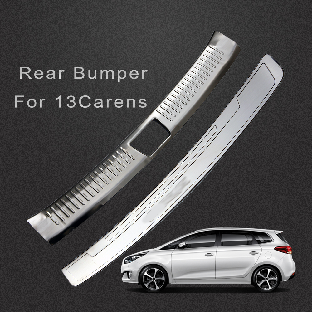 High quality stainless steel Chrome Rear Bumper cover door sill plate for 2013 2014 2015 kia carens rondo accessories free shipping aluminum alloy silk screen printing squeegee handle silk screen printing aluminum alloy with shipping cost fee