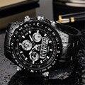 Спортивные мужские часы  цифровые светодиодные электронные часы  топовый бренд  роскошные армейские кварцевые наручные часы  часы 2018