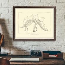 Рисунки динозавров ископаемые скелеты из Северного постеры с Америкой и принты Палеонтология холст картины динозавры кости картина