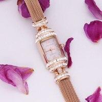 Melissa Women's Watch Lady Hours Japan Quartz Top Fashion Dress Snake Chain Bracelet Luxury Shell Rhinestones Mother's Gift