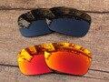 Черный и Красный Огонь 2 Пар Поляризованных Сменные Линзы Для TwoFace Солнцезащитные Очки Кадров 100% UVA и UVB Защиты