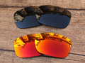 Black & Fire Red 2 Pairs Polarized Replacement Lenses For TwoFace Sunglasses Frame 100% UVA & UVB Protection