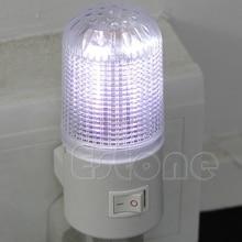 1 шт. 3 Вт 4 светодиода настенного монтажа Спальня ночника licht свет Plug Освещение лампы R06 Прямая поставка