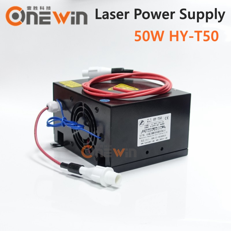 50W CO2 Laser Power Supply for CO2 Laser Cutting Machine HY-T50 co2 laser machine laser path size 1200 600mm 1200 800mm