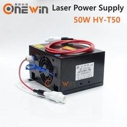 50W CO2 zasilanie lasera dla CO2 maszyna do cięcia laserowego HY T50 w Części do maszyn do obróbki drewna od Narzędzia na
