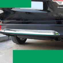 цена на lsrtw2017 abs car rear bumper chrome trims for toyota highlander 2013 2014 2015 2016 2017 2018 2019 with highlander logo