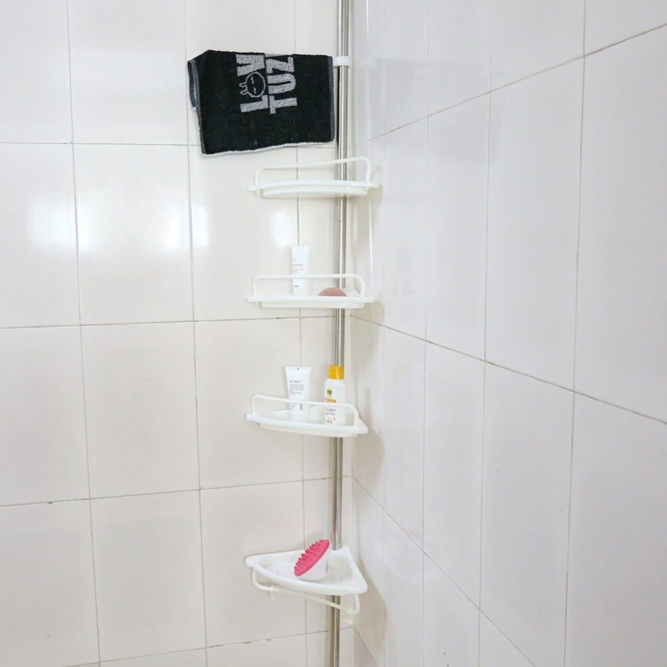 Telescopic Bathroom Corner Shelf Rack