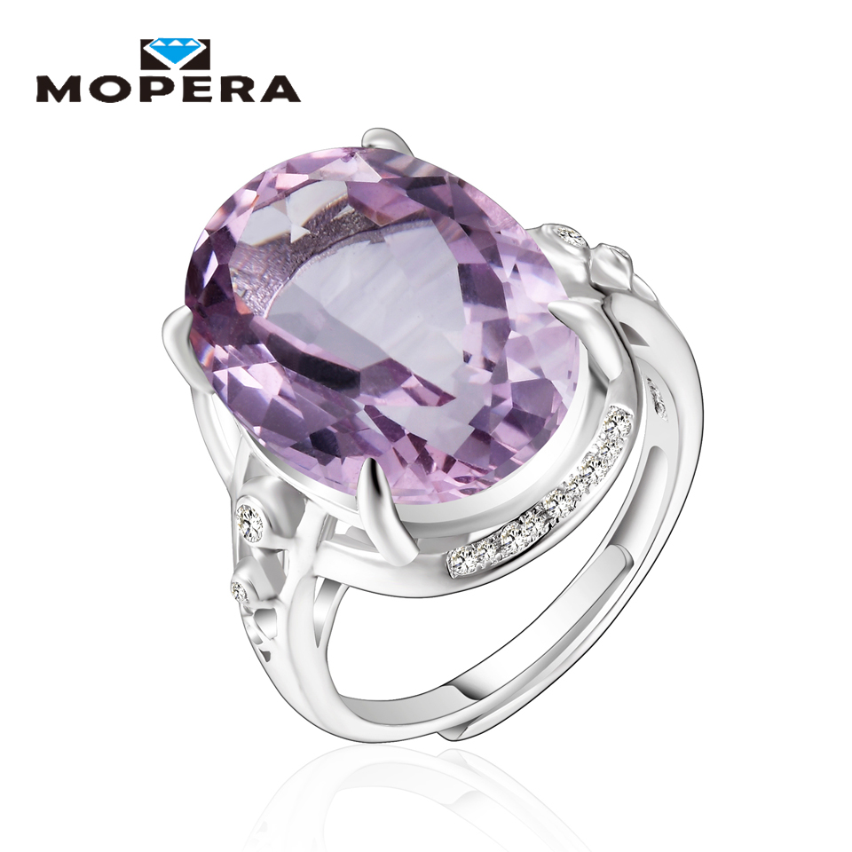 rings cut image amethyst white gemstone cluster ring oval diamond jewellery gold purple