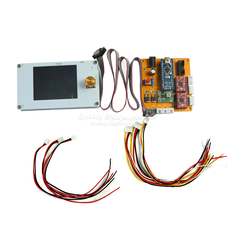 2 Axis Offline Control System Board with TFT LCD Panel for DIY CNC Laser Engravi