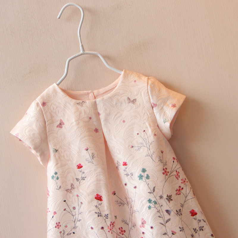 50d751e744e0 Baby Girl Dress Rose Floral Pattern A Line Princess Dress Girls ...