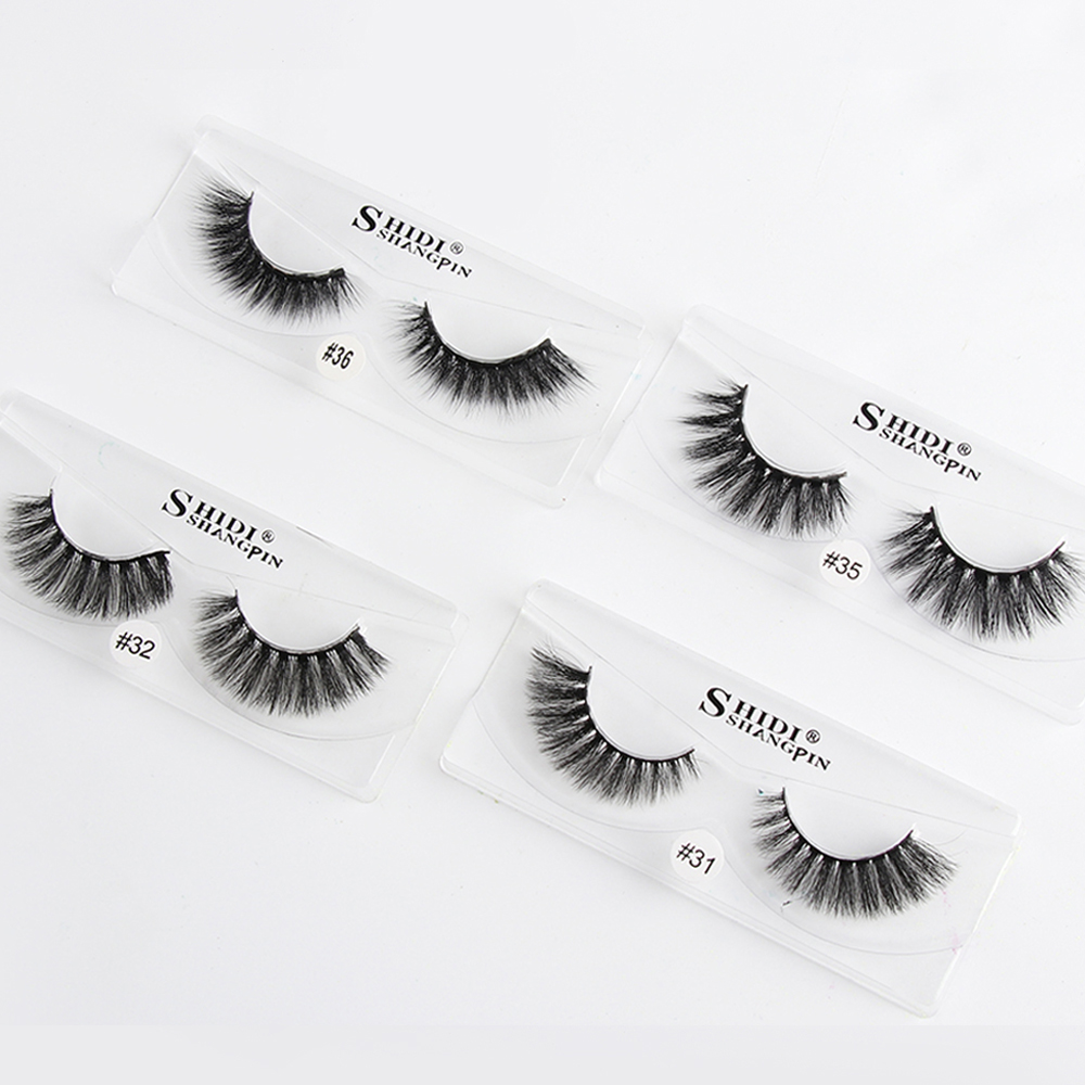 Brave 1pair 100% Mink Hair False Eyelashes Natural Handmade Full Strips Fake Lashes Thick Cross Fluffy Wispy Eye Lashes Extension Tool Ample Supply And Prompt Delivery Beauty & Health