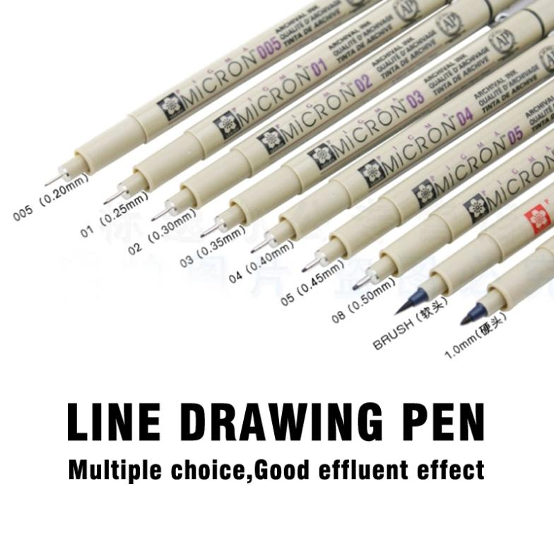 Line drawing pen Water soluble cartoon graffiti art supplies  sketch markers drawing fine brush Marker pen know 8pcs black technical graphic fine line drawing pen sketch ink marker pen 0 05 0 8mm for hook line painting pen art supplies