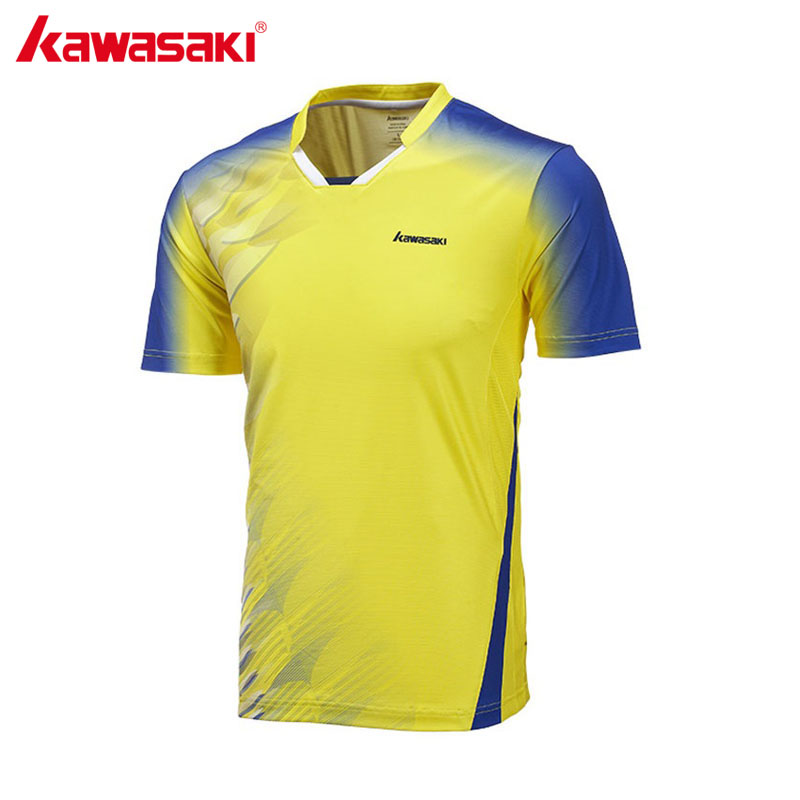 KAWASAKI T-Shirt Shirt Sleeve Quick Dry Polyester Shirt for Badminton Table Tennis Running Gym Fitness Sports Clothes ST-171016