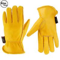 Guantes de trabajo calientes de invierno KIM YUAN 055 3 M revestimiento de Thinsulate perfecto para jardinería/corte/construcción/motocicleta ¡los hombres y las mujeres