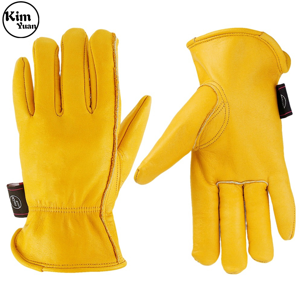 KIM YUAN 055Winter Warm Work Gloves 3M Thinsulate Lining Perfect For Gardening/Cutting/Construction/Motorcycle, Men & Women