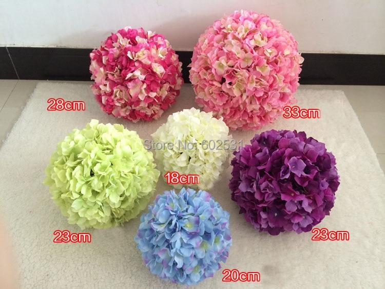 ₩Outside dia.18cm Watercress hydrangea wedding kissing flower ball ...