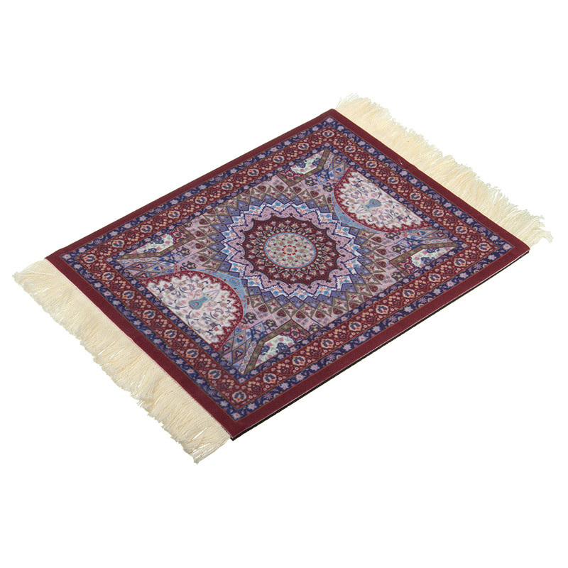 280 x 180mm Vintage Carpet Rubber Gaming Mouse Gamer Mat Woven Persian Rug Style Mouse Pad Decor Gift for Computer Tablet Laptop