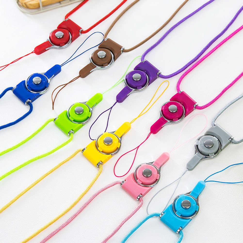 Nuevo pequeño Cordón de correa de cuello de hojas frescas para llaves Tarjeta de Identificación gimnasio correas de teléfono móvil sujección de insignia y USB Cordón de cuerda para colgar teléfono DIY