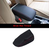 Super Fiber Leather Car Armrest Cover Pad Console Arm Rest Pad Accessories For Volkswagen VW Tiguan