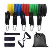 Resistance Bands Set Workouts Handles with Portable Bag Exercise Bands Door Anchor Tube Kit Training and Ankle Straps
