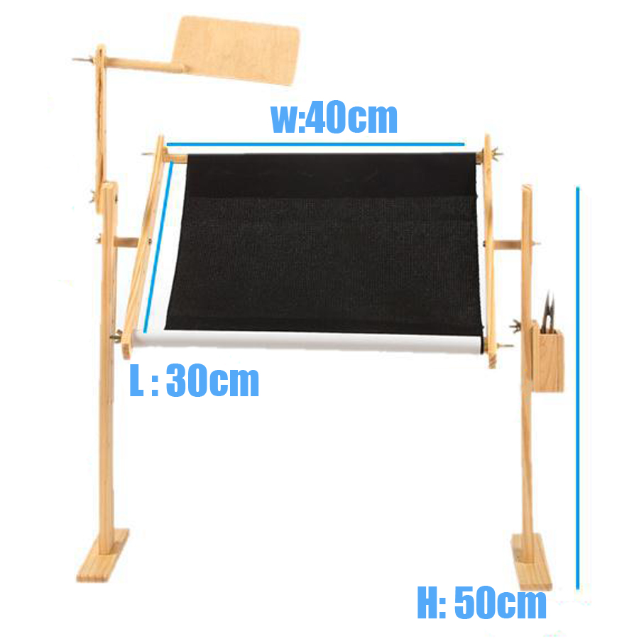 Adjustable solid wood cross stitch rack,50cm embroidery frame wooden ...