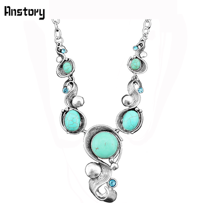 Vintage Look Casecade Pendant Stone Necklace Antiqus