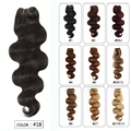 Fast Shipping 10pcs/set 100% 7A Virgin Remy Brazilian Body Wave Clips In Extensions Full Head Natural Black 1B Human Hair
