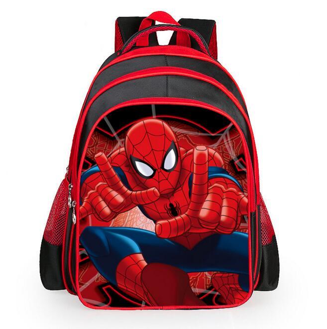 Spiderman cartoon bags of pupils grades 1 6 shoulders the burden of the children kids school