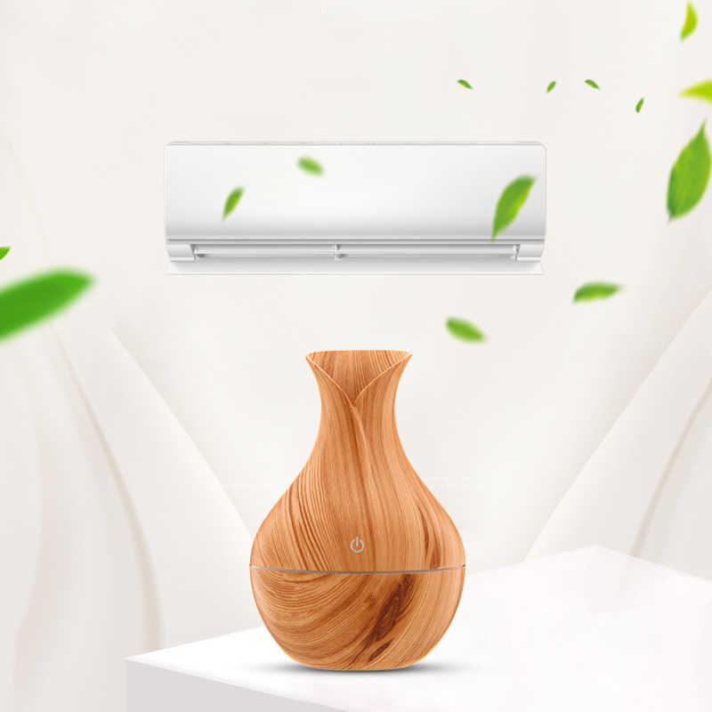 USB Houtnerf эссенциель Оли диффузор Ultrasone Luchtbevochtiger Huishouden арома-диффузор светодиодный терапия тумана met светодиодный