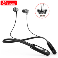 M Uruoi Cordless Hands Free Headphone Sport Stereo In Ear Bluetooth Earphones With Microphone Headsets Magnetic
